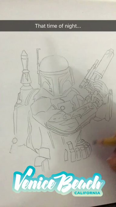 Doodle time is my 💛 #BobaFett https://t.co/sIi0ueCIfk