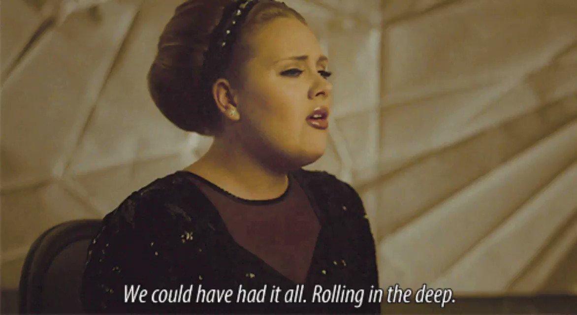 "15. @Adele ""Rolling In The Deep"" | 100 #GreatestChoruses"