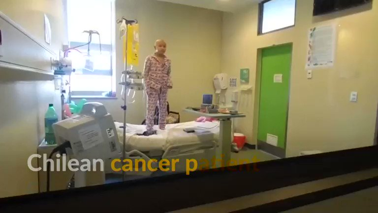 A 10-year-old cancer patient dancing on a hospital bed in Chile captures millions of hearts online