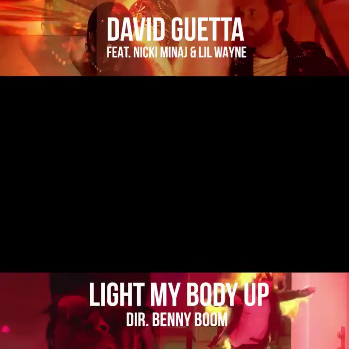 #LightMyBodyUpVideo drops tomorrow ~ @davidguetta @LilTunechi #LIGHTMYBODYUP #NickiBBMAs https://t.co/1aLNhTp5kq