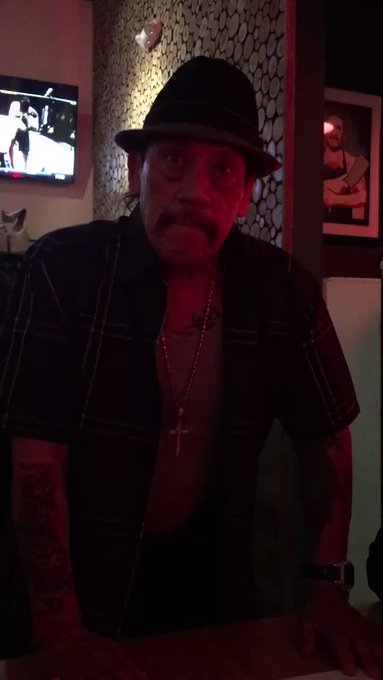 DANNY TREJO JUST SANG HAPPY BDAY TO ME THANK YOU