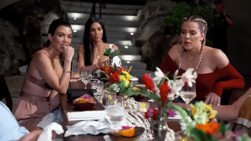 Things get a little crazy tonight!! Had to cool the Lord down... #KUWTK ???????? https://t.co/N67PSchITx