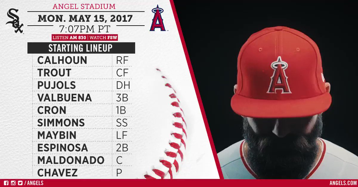 #Angels open a 3-game set against the White Sox tonight #AtTheBigA.  Game Preview: https://t.co/Y84aczYpW8 https://t.co/CEY4RhFhSH