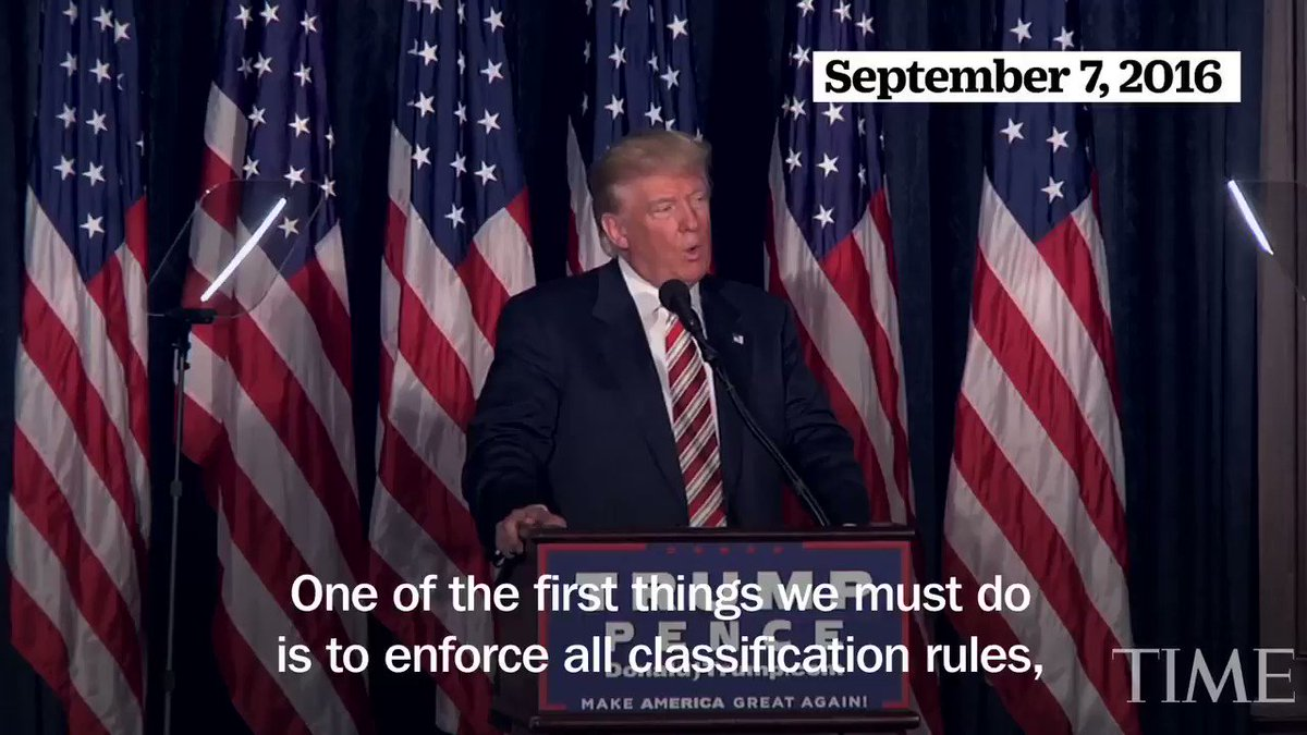 A look back at Donald Trump's criticism of Hillary Clinton and classified information https://t.co/D0wOzcrLip https://t.co/LkJJ5HBq6H
