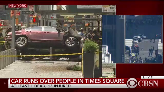 DEVELOPING: NYPD says crash in Times Square was likely DWI, not terrorism https://t.co/B7NKuUMEnd https://t.co/ZCZgQgzmph