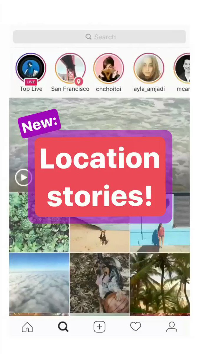 Discover the world around you with new location and hashtag stories on Explore. https://t.co/VJq7XbNKUE