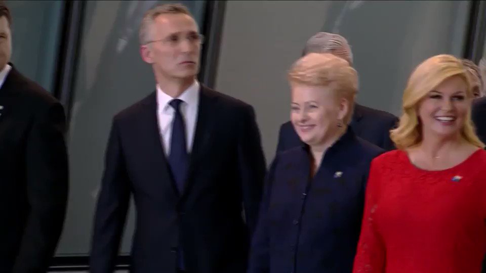 Trump physically brushed past Montenegro's prime minister at a NATO gathering