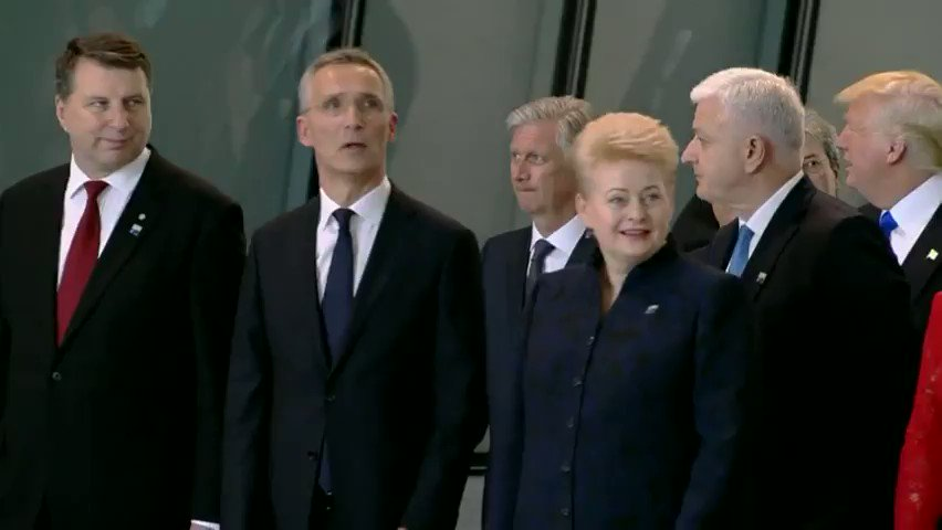 America First? Trump shoves aside Montenegro PM at NATO summit