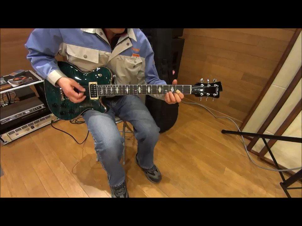 EFL-FM Dark Greenish-blue( )試奏動画、最後にフロント+リアでアルペジオです。こうやって弾くと