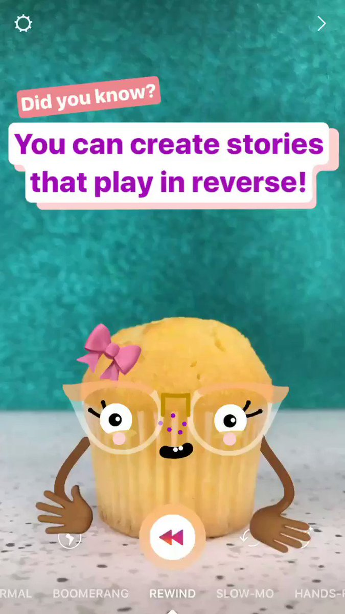 Happening now on our Instagram story: how to create stories that play in reverse. https://t.co/K87HUdKejm