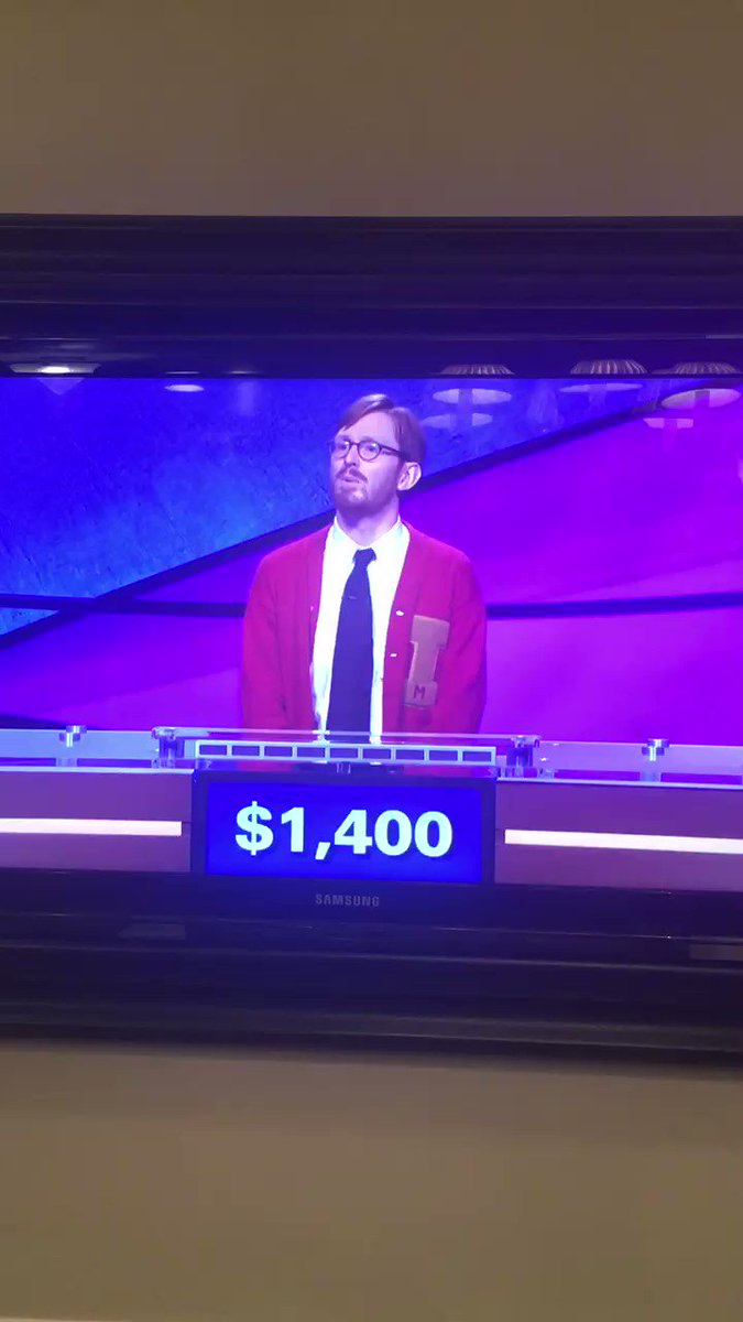 Did you catch me on @Jeopardy last Friday? ???????? https://t.co/2mfQwVtVPV