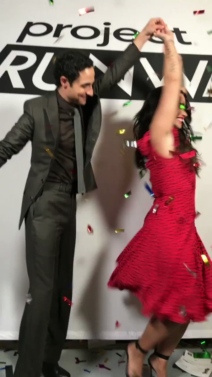 We wearing #zacposen while being twirled by @ZacPosenStudio ������❤️ https://t.co/3a6jl1Qaa4