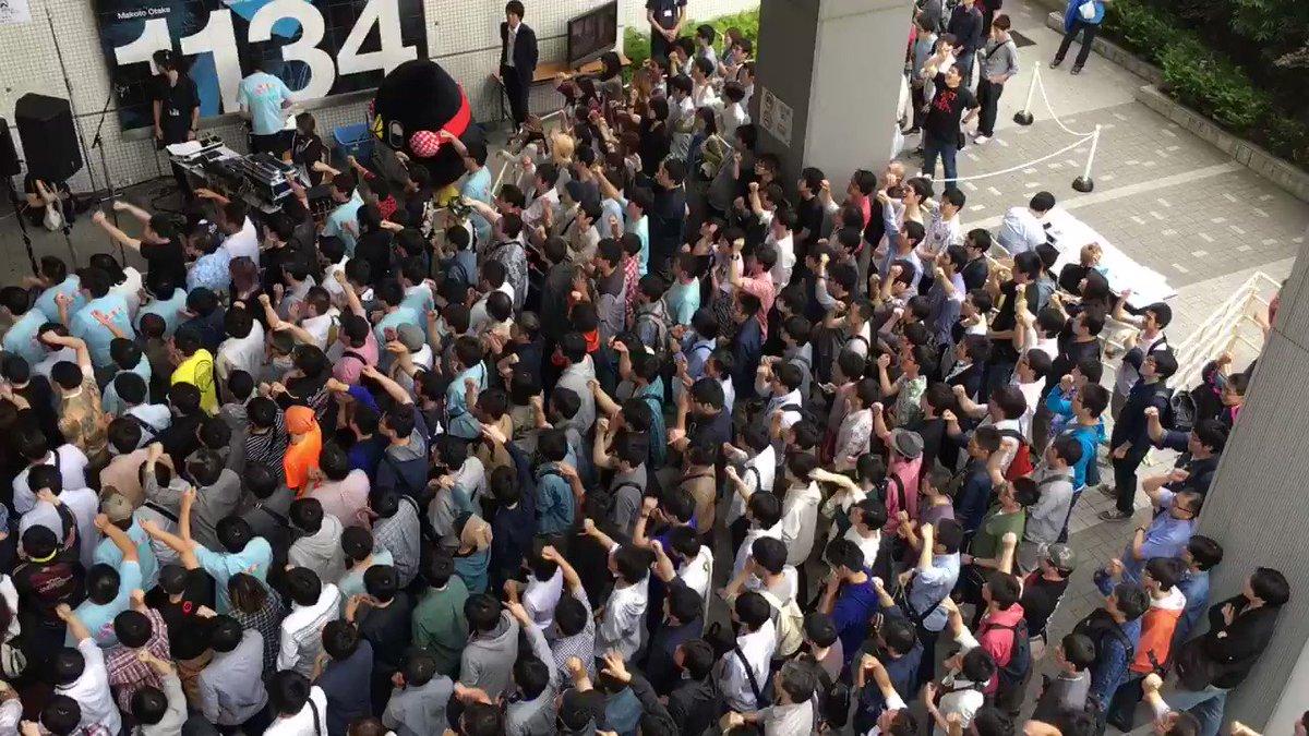 ガオガイガー♫ 会場大熱唱で2階の歩道橋が揺れたぁ(*⁰▿⁰*)  盛り上がりのパワーつえー!!驚  #kimimach