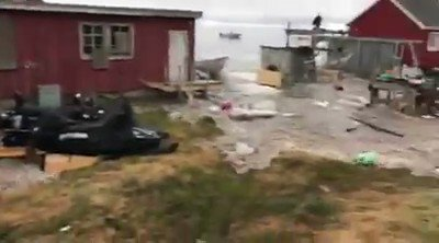 Earthquake & tsunami cause major flooding in Greenland (VIDEO via