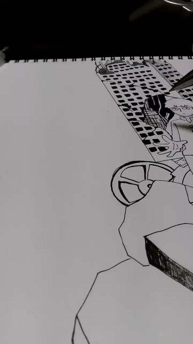 #モブサイコ100 #絵描きさんと繋がりたい ちょっとだけ描いてみた。完成はまだまだ。