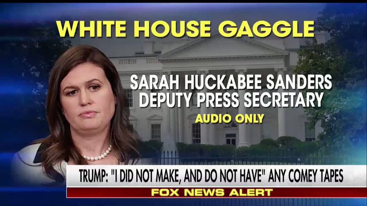 """.@SHSanders45 """"@POTUS's statement via Twitter today is extremely clear. I don't have anything to add."""""""