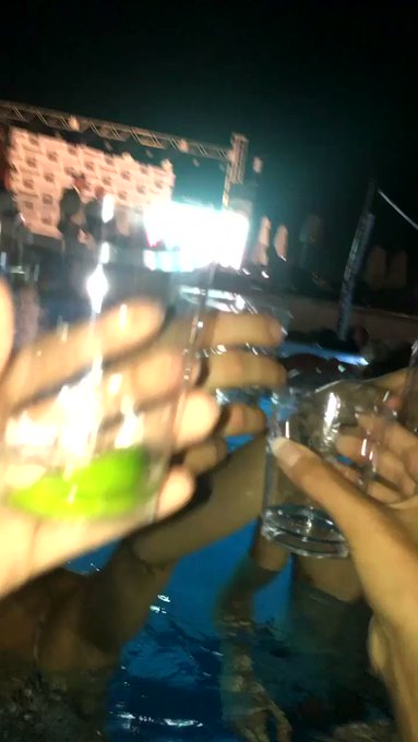 Awww shots on @StefanieJoy7's bday in Miami with @Shanehalll & @MelodyKush 🙌 https://t.co/saQRUwZJNy