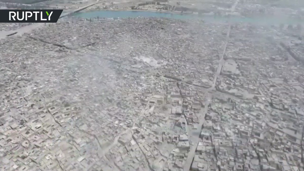 Ruins of Great al-Nuri Mosque captured by drone in devastated Old Mosul (VIDEO)