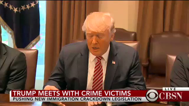 NEW: Pres. Trump speaks out on immigration as he meets with crime victims at White House