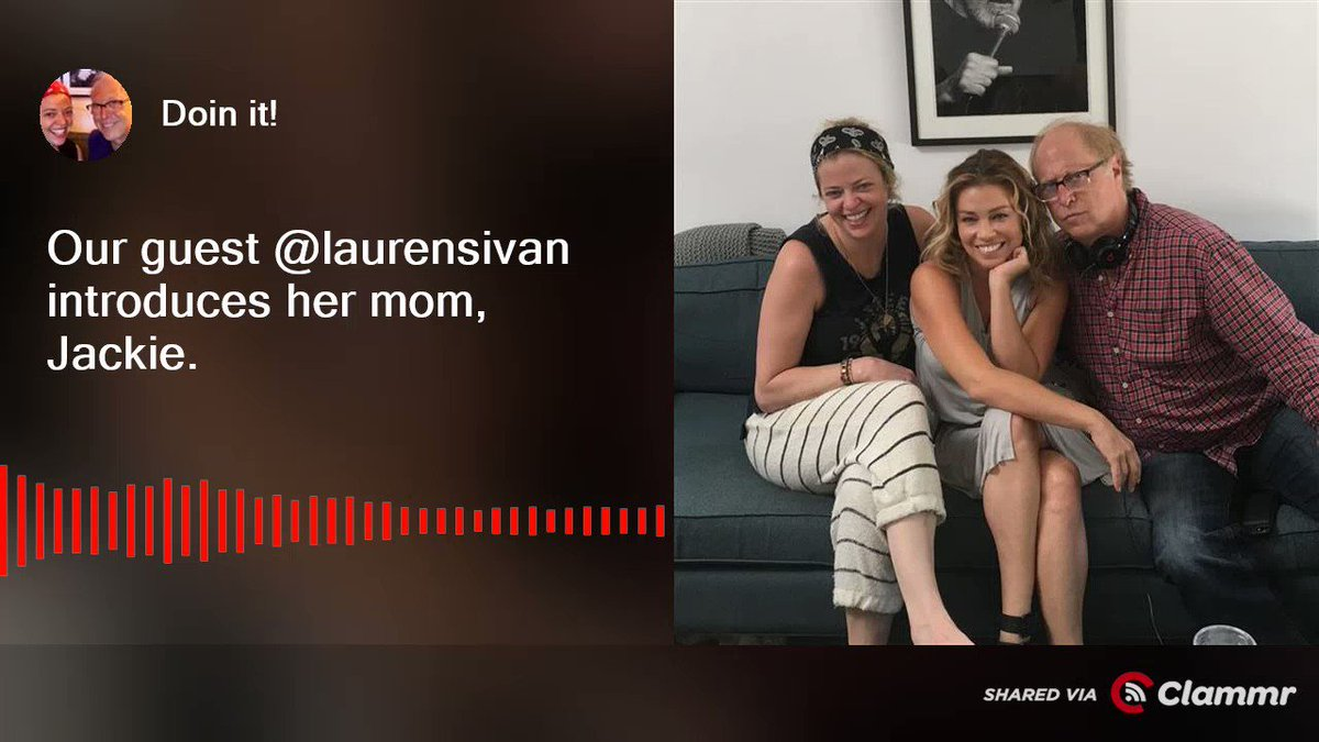 Have you heard @laurensivan on the show this week? Here's Danny and Jenny meeting her mom. https://t.co/oSGkcjXLtf https://t.co/ELIVi16Wt9
