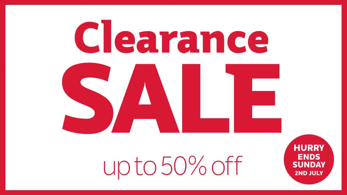 Clearance Sale must end Sunday. Get up to 50% off! Hurry, before it's too late - https://t.co/IcEIjhWzUY https://t.co/cufwzowoTy