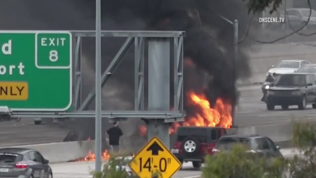 Two people hurt after small plane crashes on a California highway. Read more: