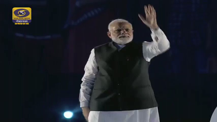 Modi force be with you: Indian PM exits speech to DarthVader music