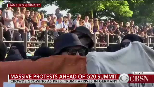 WATCH: Growing protests break out as Pres. Trump arrives in Germany ahead of the G20 Summit