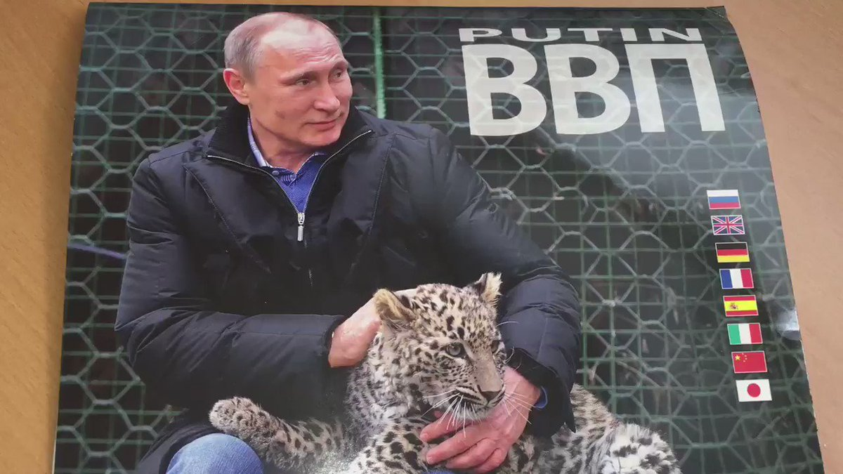 It's still summer. But the Putin 2018 calendar is already in the shops in Russia. https://t.co/45WP1zowQ9