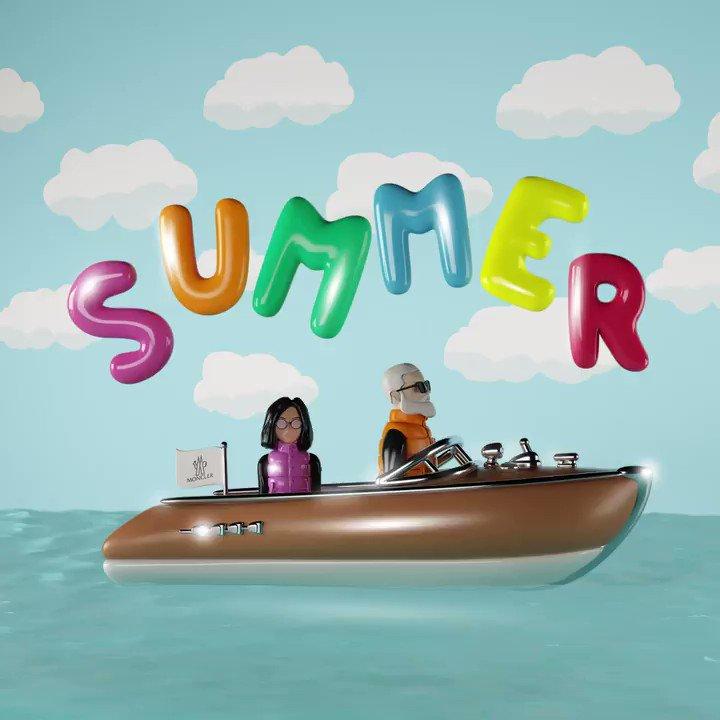 Happy Holiday! 明日は海の日、いよいよ夏も本番だ! Mr.&Mrs.Monclerはこの連休、クルージングの旅に出かけるのだとか。 皆さんは何をして過ごすのかな!? #Moncler #海の日 https://t.co/rc4pPccv5F
