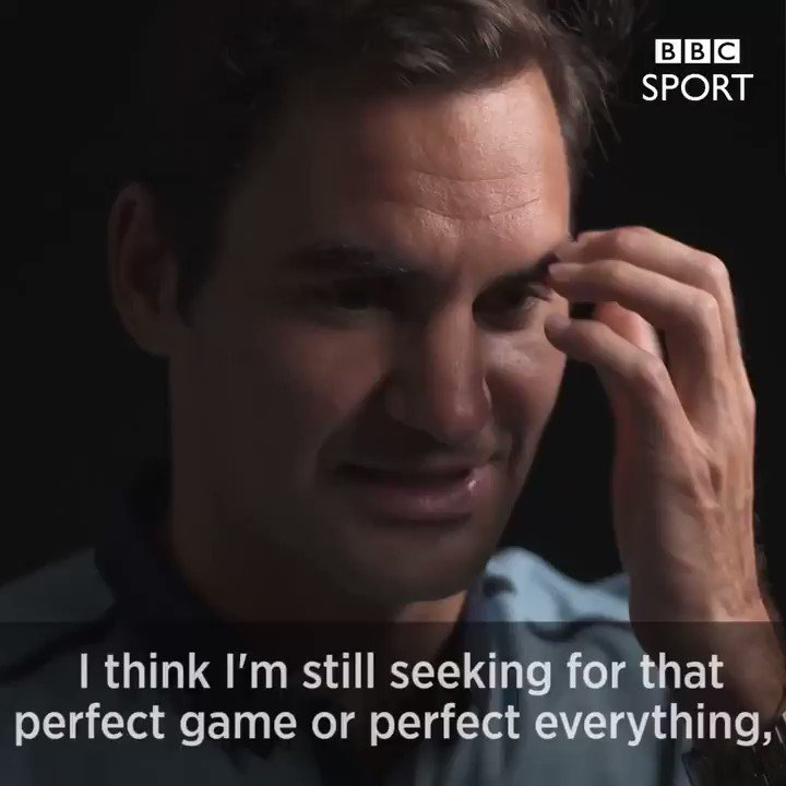 Roger Federer strives for perfection.   #Wimbledon https://t.co/6wza2dw4RA