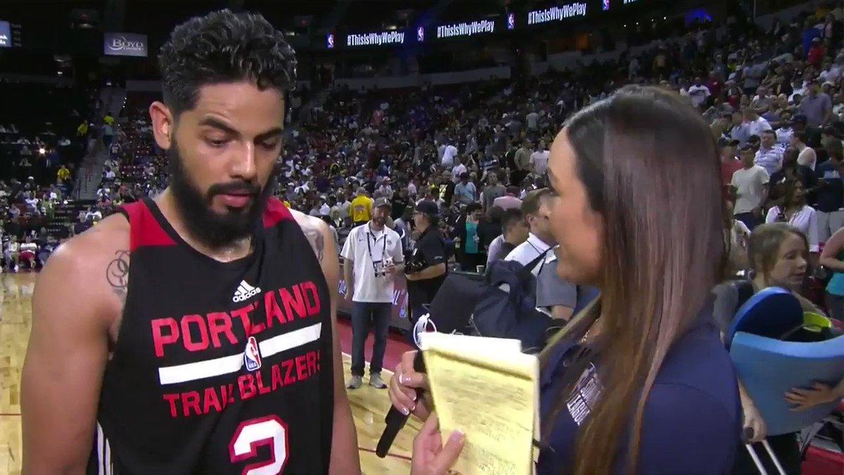 Jorge Gutierrez talks @trailblazers #NBASummer Semifinal win! https://t.co/gnhTYKuHyx