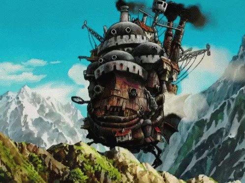 howl's moving castle ハウルの動く城 #StudioGhibli 😎