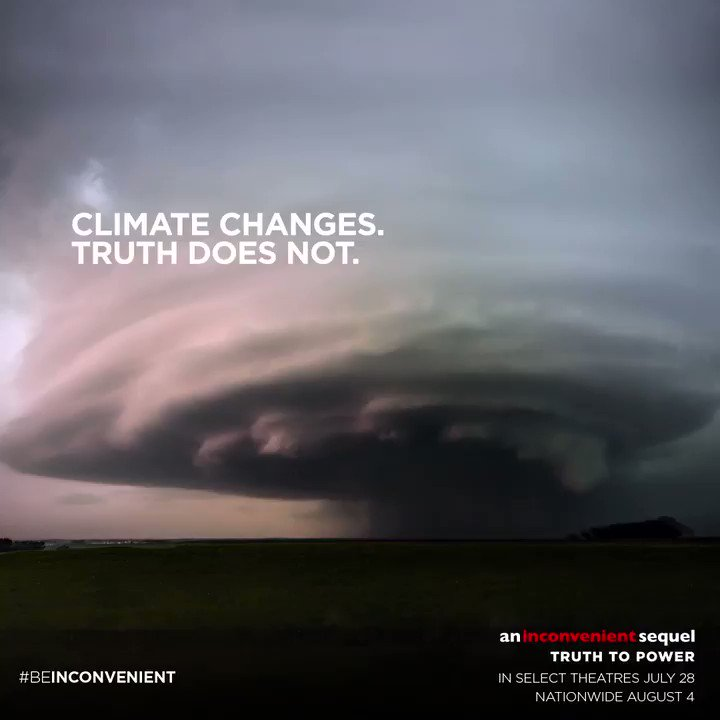 #BeInconvenient and fight to save our home. @aitruthfilm premieres this week! https://t.co/qHtsJc0X0S
