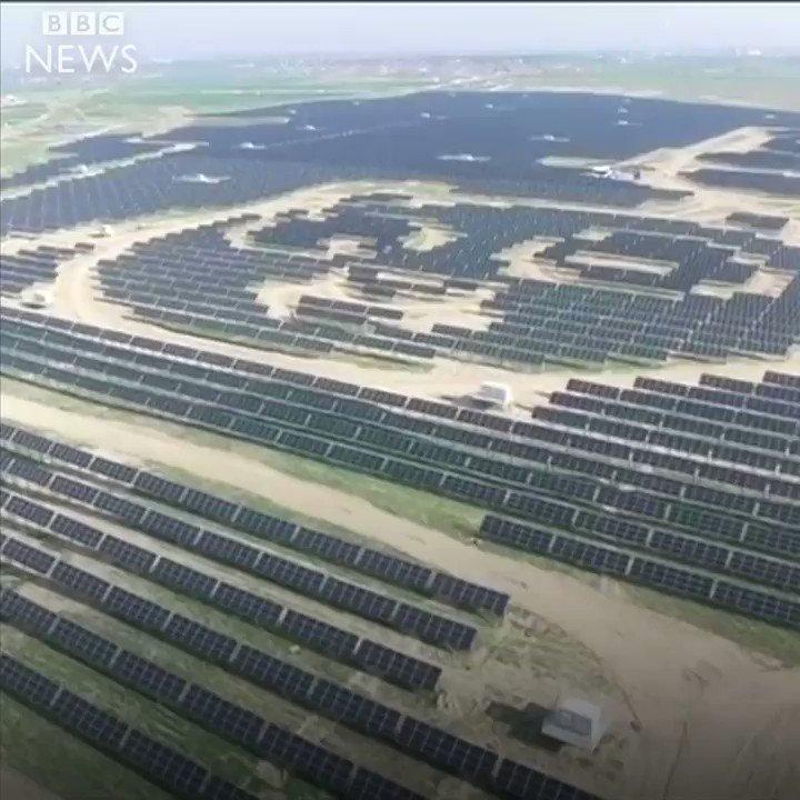 Panda shaped solar power plant opens in China (where else?) �� ⚡  https://t.co/0wBq9oLKXr https://t.co/FVBQzYEWKL