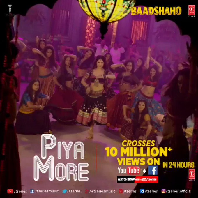 Whoo hoo!! 10M Views On PiyaMore In 1Day 😍✌️ https://t.co/2hgH1tnSFc https://t.co/djRbIaPPeQ