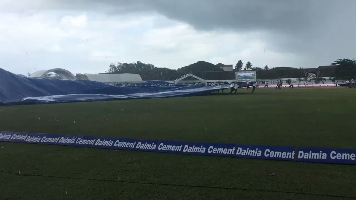 And...this happened just a few minutes back. Was pelting down at Galle #TeamIndia #SLvIND