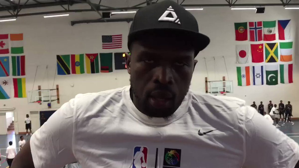 Luol Deng grew up in ���� Africa, now back for his 2nd #NBAAfricaGame for TEAM AFRICA! #ThisIsWhyWePlay https://t.co/5I0qhvs1B1