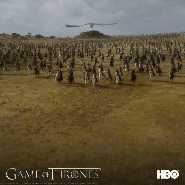 RT @HBO_UK: COMING THROUGH. #GOTS7 #TheSpoilsOfWar https://t.co/mPMkqpnaIX
