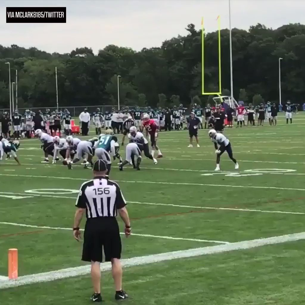 Brandin Cooks out at Patriots training camp in midseason form. #SCtop10   (via NFL/Patriots) https://t.co/xxMYg1p3sn