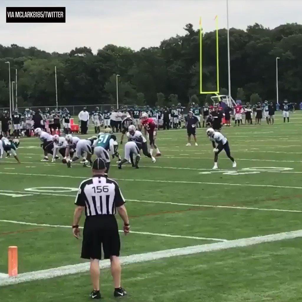 No offseason rust on Brandin Cooks. #SCtop10  (via NFL/Patriots) https://t.co/fcCYSF7rIj