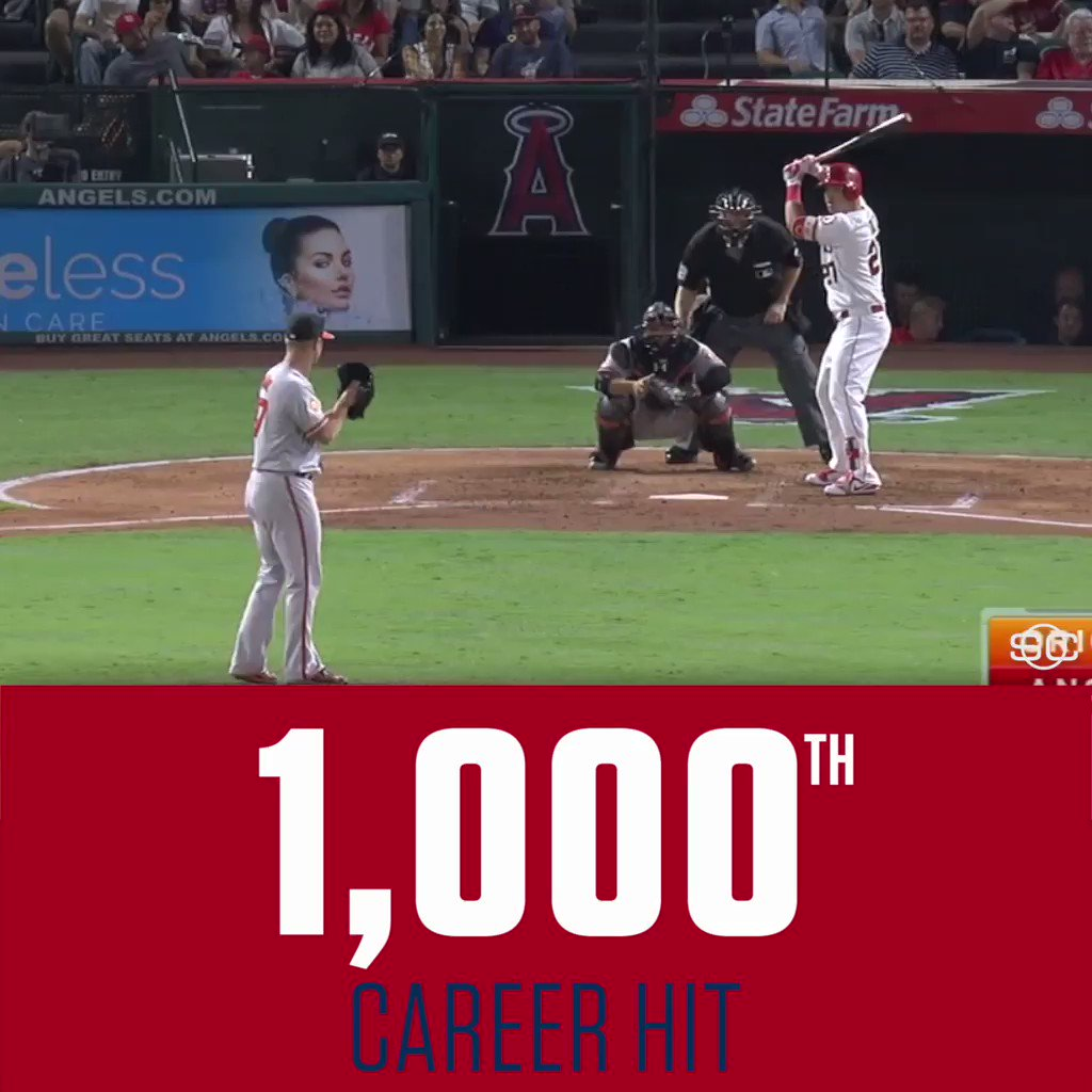 ICYMI: Mike Trout celebrated his 26th birthday with a milestone. https://t.co/Jmcj4snpwC