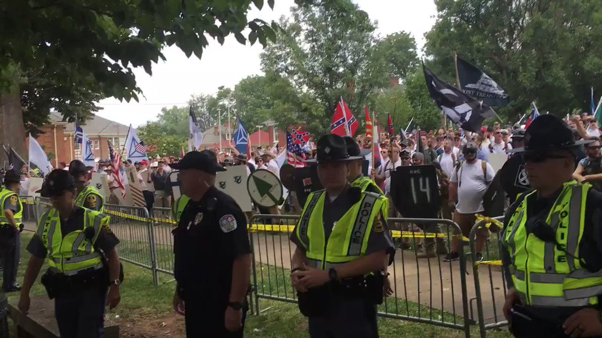 If you ever wondered what pure ignorance sounds like, here is a small glimpse into #Charlottesville right now.