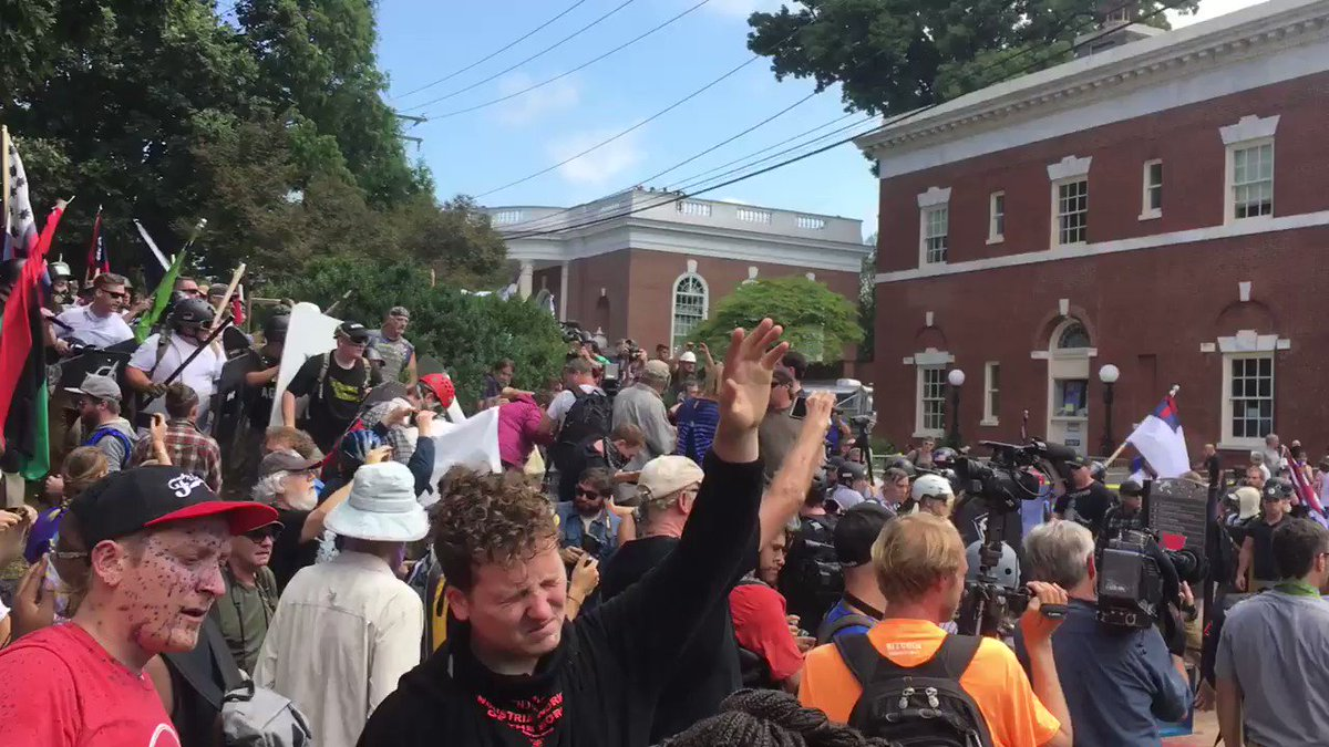 Cops need to step in. This is getting out of control. #Charlottesville