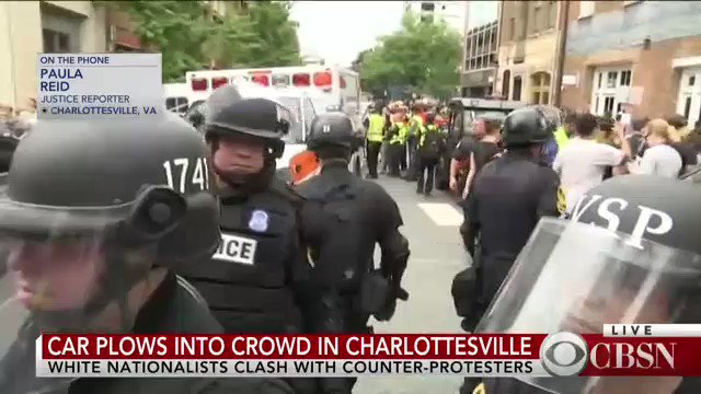 'This is the most police that we have seen [today],' @PaulaReidCBS says. https://t.co/wGMkY911mH https://t.co/YJ2p1Ruste