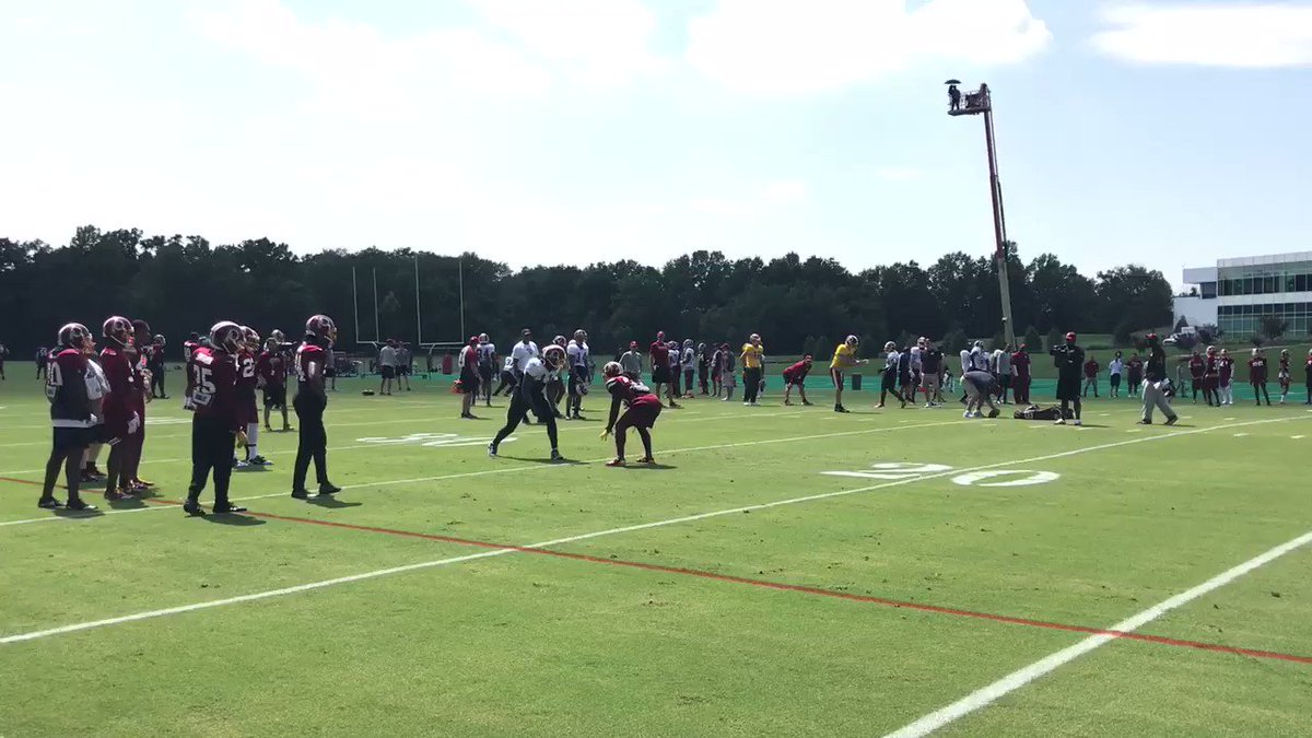 Pryor vs. Swearinger. #HTTR https://t.co/c07wNch7AQ