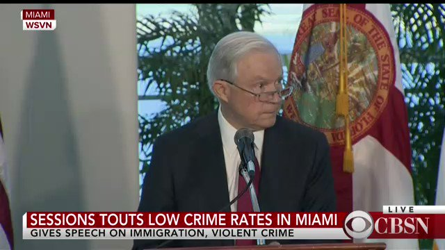 WATCH LIVE: Attorney General Jeff Sessions delivers speech on immigration in Miami