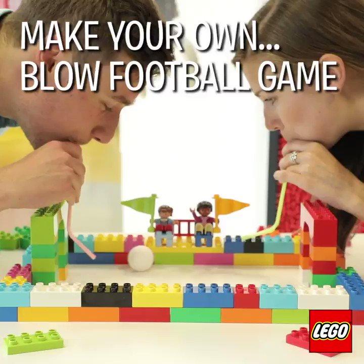 レゴブロックと ピンポン 玉とストローがあれば・・・こんな楽しい #ゲーム もできちゃいます♪ こちらの動画では大きいサ