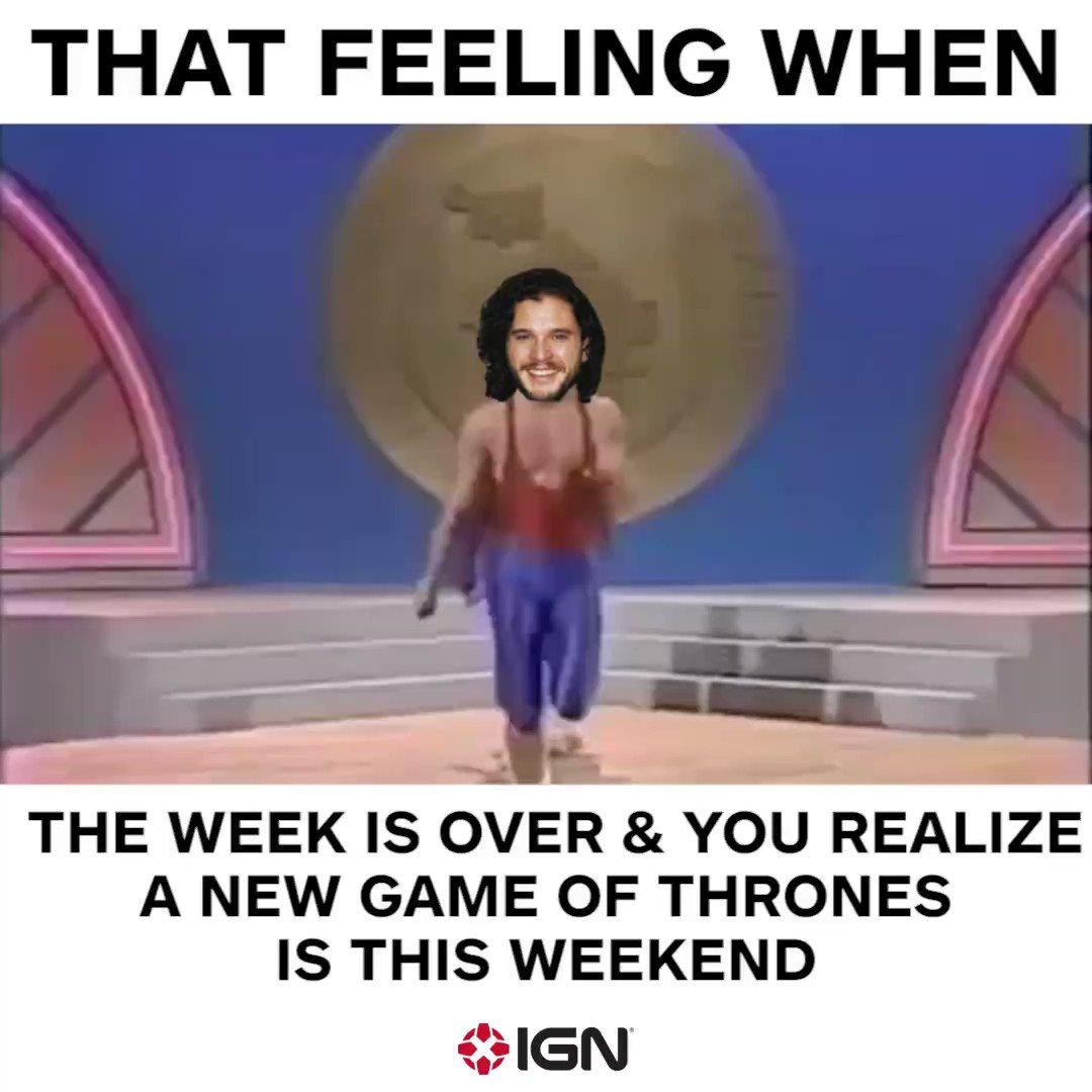 RT @IGN: GET HYPED! #GameofThrones #FridayFeeling https://t.co/7bhn9icXAH