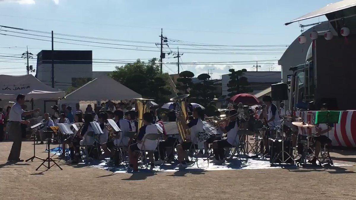 """""""わっしょい!平島・16""""のオープニングで上道中学校吹奏楽部の皆様の演奏がありまして、シュガーソングとビターステップが!"""